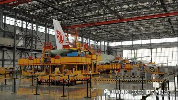2019年09月27日上午,建科机械各部门负责人前往天津空客A320总装车间参观学习2.jpg