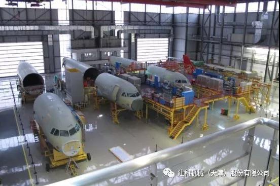 2019年09月27日上午,建科机械各部门负责人前往天津空客A320总装车间参观学习3.jpg